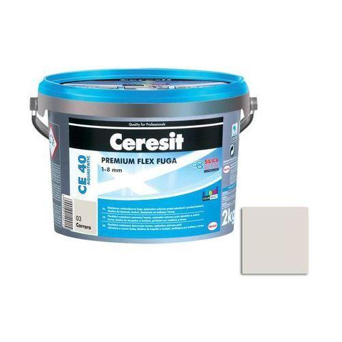 Fuga cementowa WODOODPORNA CE40 biały 2 kg CERESIT (5900089217113)