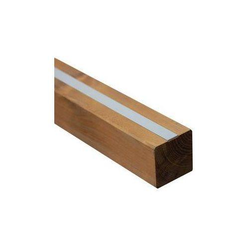 Werth-holz Kantówka drewniana 9x9x190 cm brązowa malmo