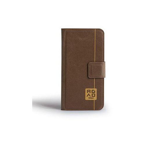 Etui GOLLA iPhone 5/5S Andie Road Slim Folder Brązowo-Szary z kategorii Futerały i pokrowce do telefonów