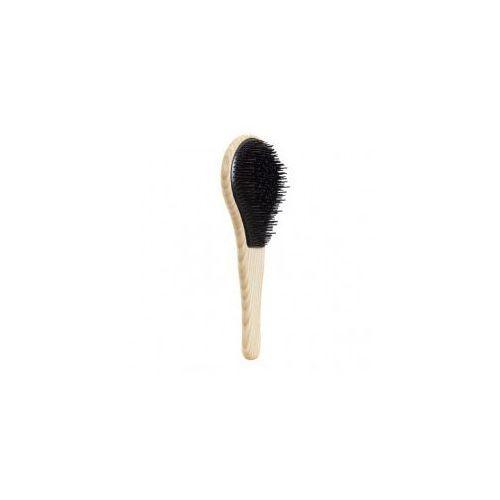 wood, drewniana szczotka do włosów grubych, czarna marki Michel mercier