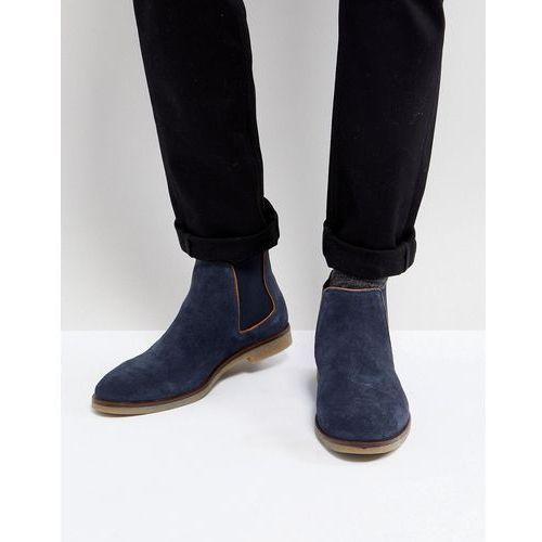 chelsea boots in navy suede - blue, Dune