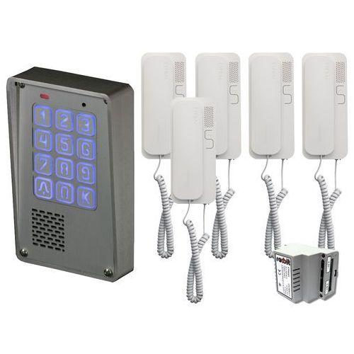 Zestaw 5-rodzinny Radbit Cyfrowy panel domofonowy wielorodzinny z szyfratorem KEC-4 NT MINI GD36, ZR12349