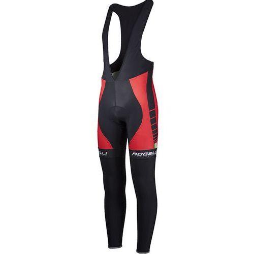 umbria - męskie spodnie rowerowe z wkładką żelową (czarno-czerwony) marki Rogelli
