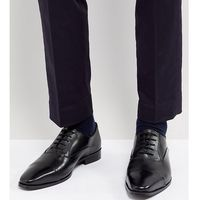 wide fit toe cap derby shoes in black leather - black marki Dune