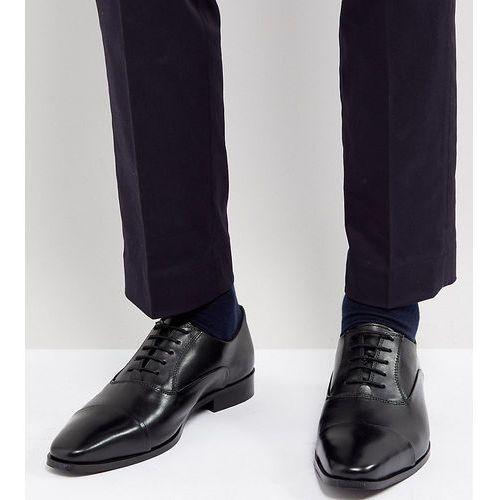 wide fit toe cap derby shoes in black leather - black marki Dune