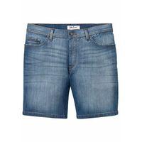 """Wygodne długie szorty dżinsowe ze stretchem regular fit niebieski """"stone marki Bonprix"""