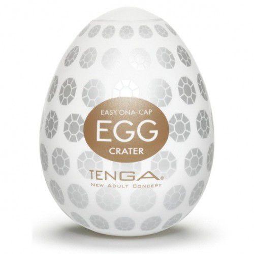 egg easy ona cap crater brown zestaw masturbatorów jednorazowych w kształcie jajka brązowy 6 sztuk marki Tenga