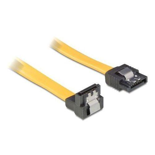 Delock Kabel SATA DATA 50cm (metalowe zatrzaski) kątowy 90'' z kategorii Kable, taśmy i przejściówki