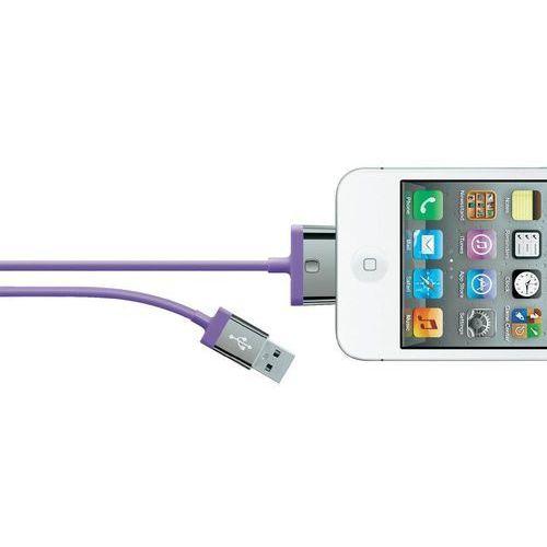 Kabel do iPad/iPhone/iPod Belkin F8J041cw2M-PUR, [1x złącze męskie USB 2.0 A - 1x złącze męskie Apple Dock], 2 m, F8J041cw2M-PUR