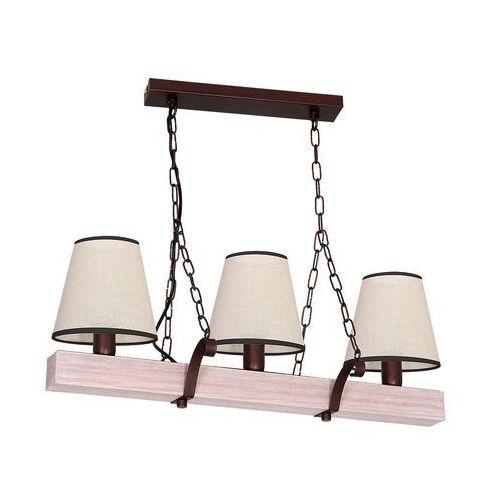Lampa wisząca Luminex Adria 8728 lampa sufitowa 3x60W E14 brąz / beż, 8728