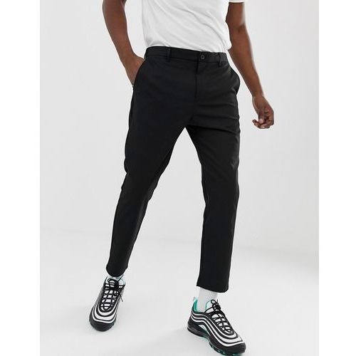 skinny trousers in black with cropped leg - black, Bershka