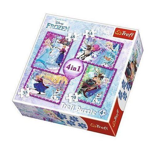 Trefl 4w1 frozen - zimowe szaleństwo (5900511342949)