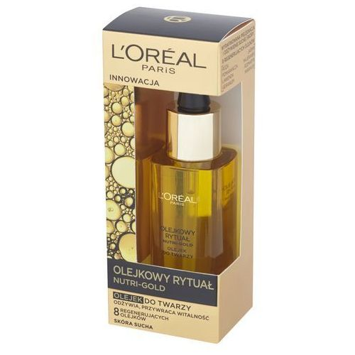 L'Oreal Paris Nutri-Gold olejkowy rytuał olejek do twarzy skóra sucha 30ml