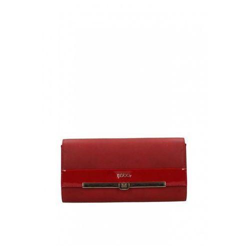 Czerwona kopertówka z lakierowaną wstawką - Nobo, kolor czerwony