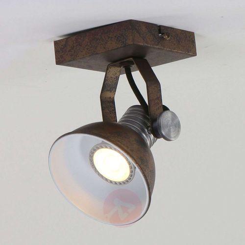 Gudo lampa sufitowa brązowy, brązowy, 1-punktowy - nowoczesny/vintage/lokum dla młodych - obszar wewnętrzny - gudo - czas dostawy: od 3-6 dni roboczych marki Hofstein