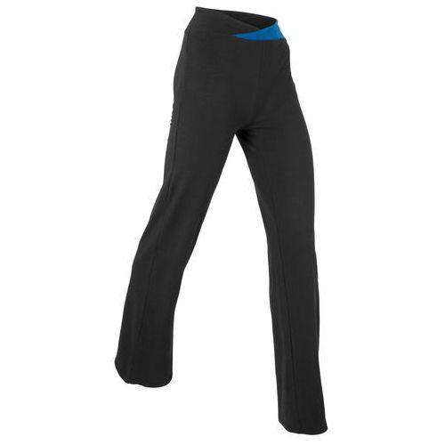 Bonprix Spodnie sportowe, długie, level 1 czarno-niebieski chagall