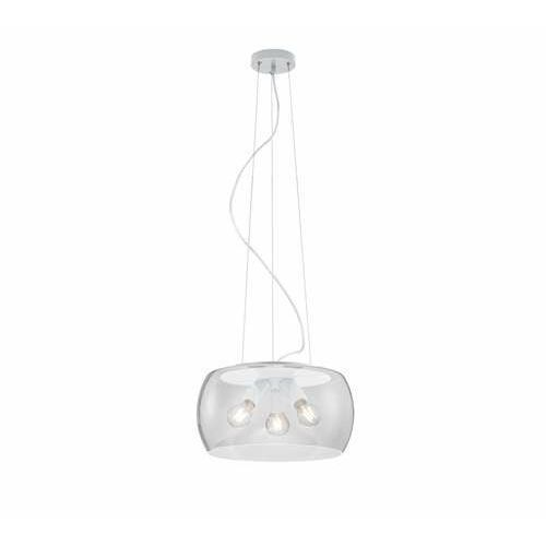 Trio Valente 300600331 lampa wisząca zwis 3x60W E27 biała/transparentna (4017807467338)