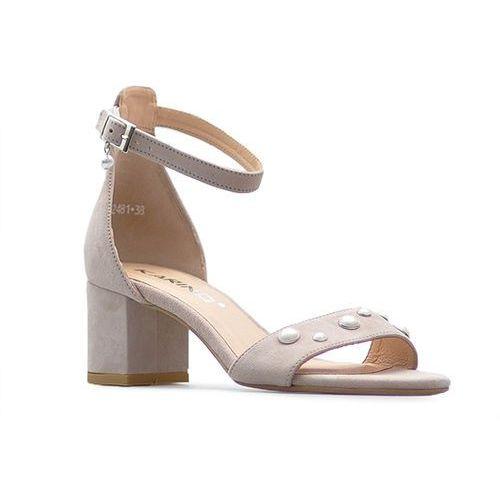 Sandały 2481/071-p różowe zamsz, Karino