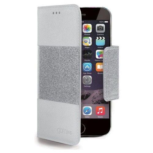Celly Etui Glitter Agenda do Apple iPhone 6, Białe (GLAGEIPH6WH) Darmowy odbiór w 21 miastach!, kolor biały