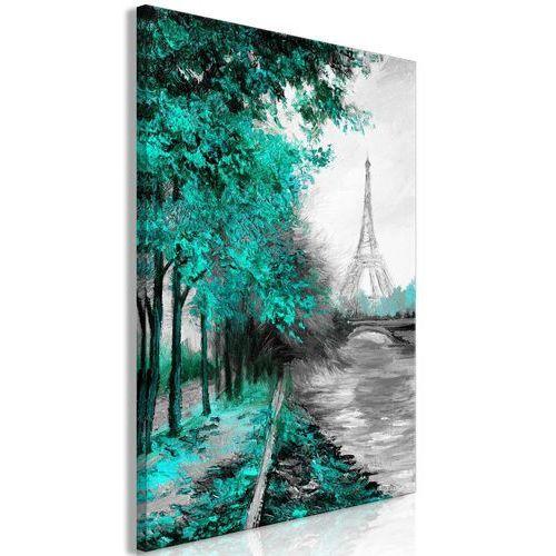 Obraz - Paryski kanał (1-częściowy) pionowy zielony