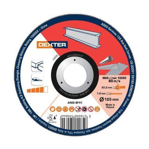 Dexter Tarcza do cięcia 125 x 1.6 x 22.23 stal/inox (3276000590644)
