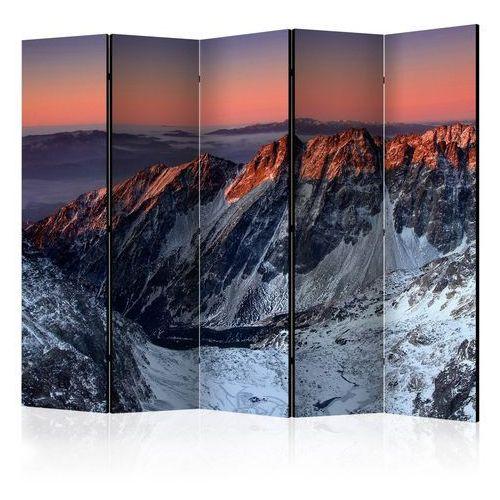 Artgeist Parawan 5-częściowy - beautiful sunrise in the rocky mountains ii [room dividers]