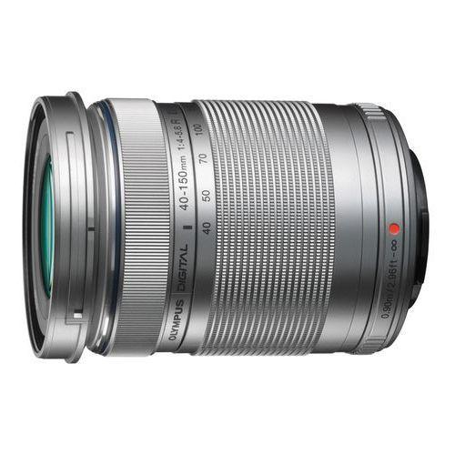 m. 40-150 mm f4-5.6 r uv srebrny obiektyw z filtrem mocowanie micro 4/3 marki Olympus