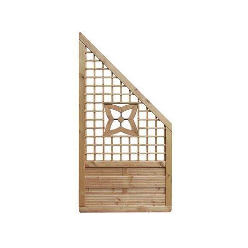 Werth-holz Płot skośny 90x180 cm drewniany malva