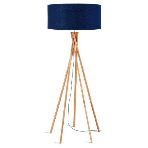 lampa podłogowa kilimanjaro bambus 129cm/ abażur 60x30cm, lniany blue denim kilimanjar/f/6030/bd marki Good&mojo