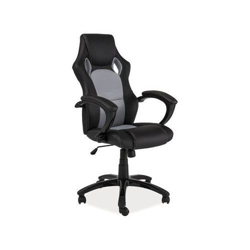 Fotel gamingowy Signal Q-107 - Czarny/szary - ZŁAP RABAT: KOD50, OBRQ107SZ