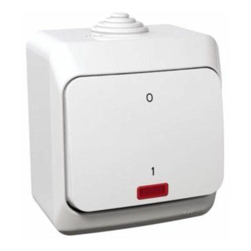 Cedar Plus Łącznik dwubiegunowy biały z podświetleniem WDE000521 (3303432400248)