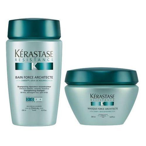 Kerastase Force Architecte [1-2] | Zestaw odbudowujący do włosów : Kąpiel 250 ml + Maska 200 ml, kup u jednego z partnerów