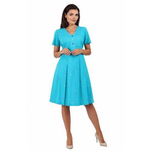 Sukienka dzienna model 951 blue marki Margo collection