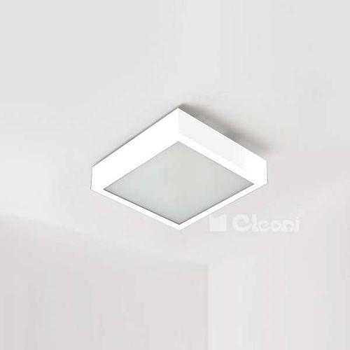 Plafon lampa sufitowa nekla 40 pf103f 1152p1.117  metalowa oprawa kwadratowa biała, marki Cleoni