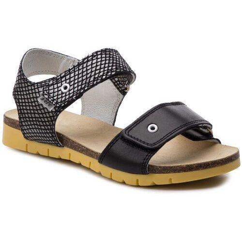 Sandały BARTEK - 59183/1RP Czarno/Biały, kolor czarny