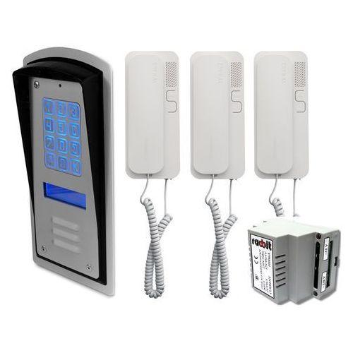 Zestaw 3-rodzinny panel domofonowy wielorodzinny z szyfratorem RADBIT BRC10 MOD, ZR12320
