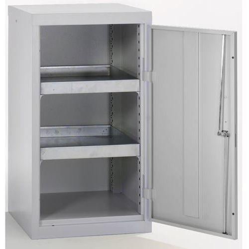 Szafa ekologiczna, drzwi zamknięte, wys. x szer. x głęb. 900x500x500 mm, 2 półki marki Stumpf-metall