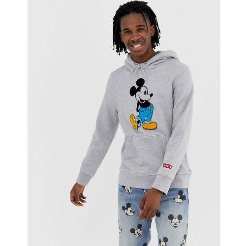 Levi's mickey mouse print hoodie in grey marl - Grey, kolor szary
