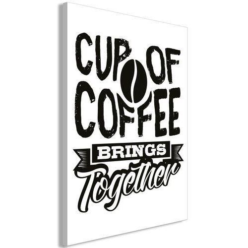 Artgeist Obraz - cup of coffee brings together (1-częściowy) pionowy
