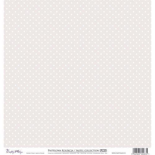 Crafty moly Ozdobny papier 30,5x30,5 cm - brązowy - brąz