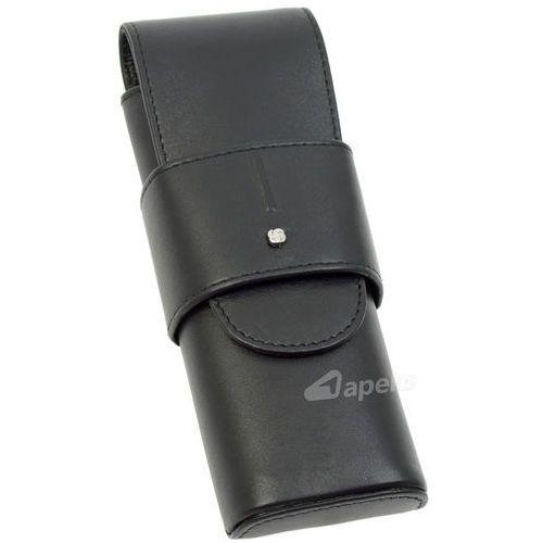 slim light 144-516-01 etui skórzane na długopisy / pióra - czarny marki Samsonite