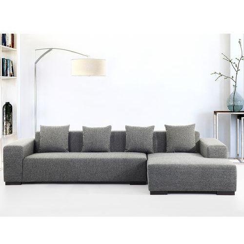Sofa ciemnoszara - sofa narożna L - tapicerowana - LUNGO (7081459580155)