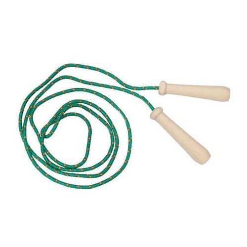 Akson  - skakanka sznurkowa z drewnianymi rączkami - 2 m - zielona