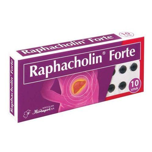 Raphacholin Forte 10 tabl. - tabletki na wątrobę
