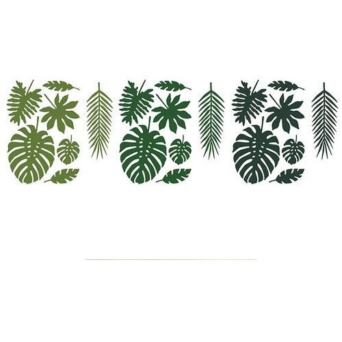 Twojestroje.pl Dekoracja aloha liście tropikalne 21szt (5902230729209)