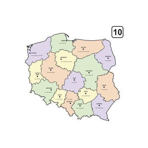 Tablica suchościeralna mapa polski z podziałem na województwa 238 marki Wally - piękno dekoracji