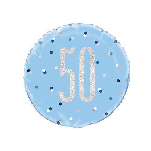Unique Balon foliowy niebieski - 50 - 46 cm - 1 szt.