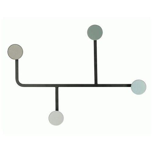 Stylowy wieszak ścienny Dotto - niebieski, Adekor000020