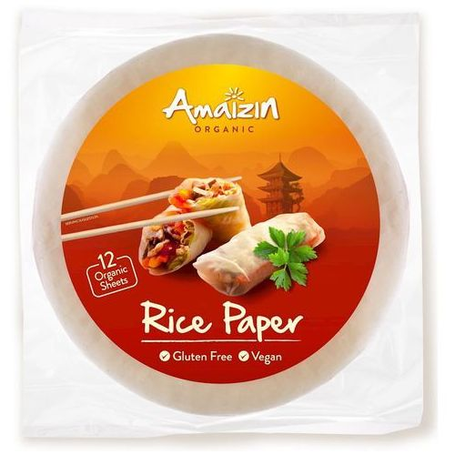 Amaizin (mleko kokosowe, tortilla, chipsy, inne) Papier ryżowy bezglutenowy bio 110 g - amaizin (8718976016872)