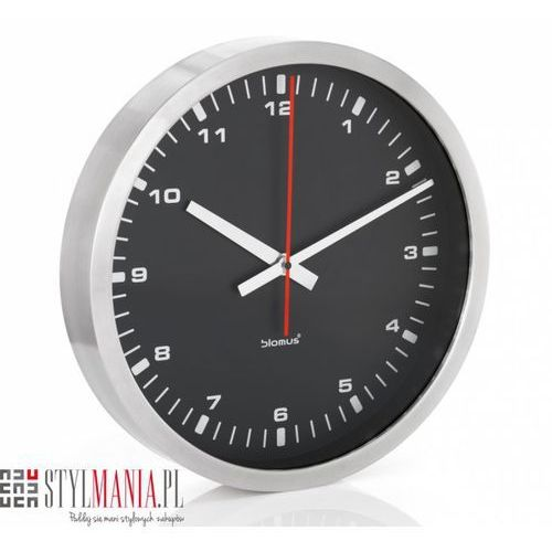 Zegar ścienny era czarny 40cm (b63214) marki Blomus